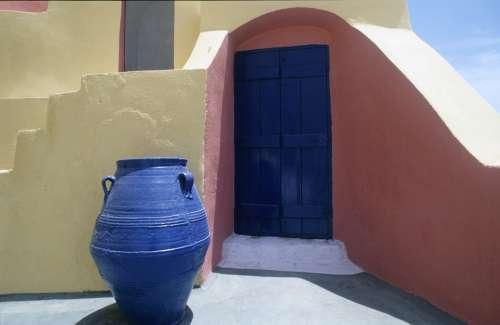 Greece Vascular Blue Building
