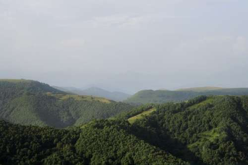 Green Mountains Landscape Nature Russia Summer