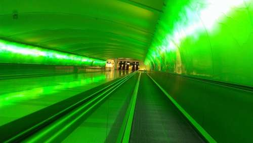 Green Tunnel Airport Pathway Modern