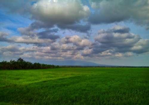 Green Cloud Nature Blue View