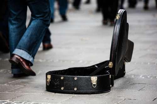 Guitar Case Street Musicians Donate Donation