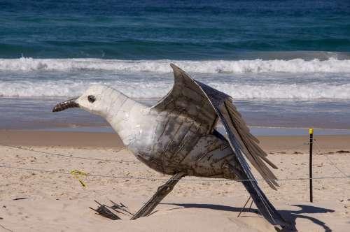 Gull Seagull Large Model Sculpture Art Bird