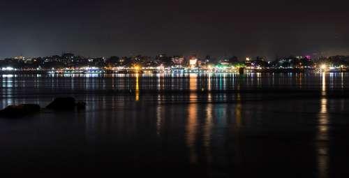 Guwahati India Assam City Landscape Night