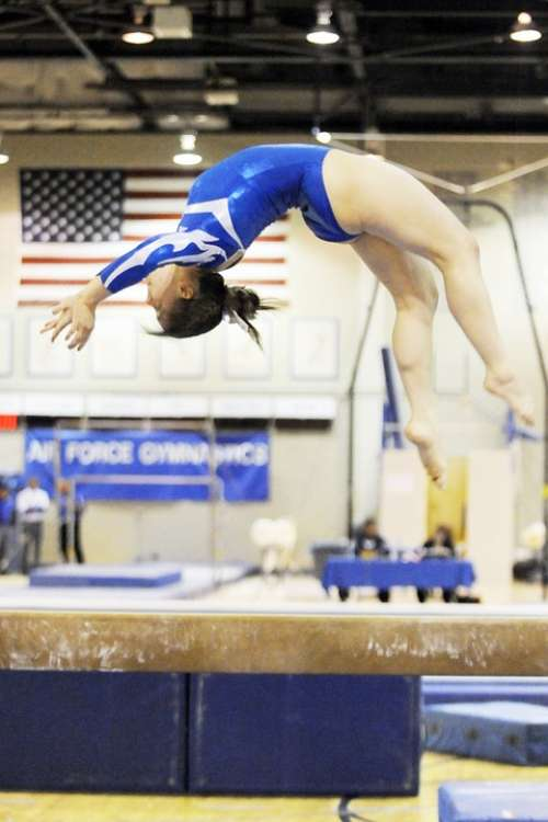 Gymnastics Female Performance Balance Beam