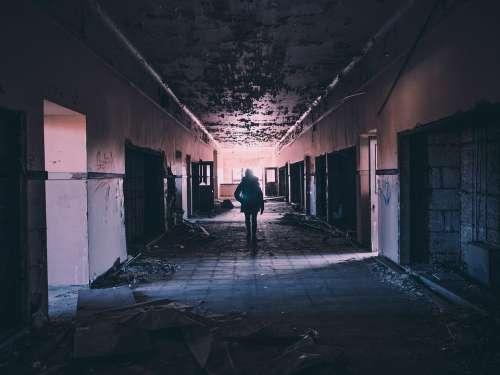 Hallway Abandoned Damaged Deserted Broken Messy