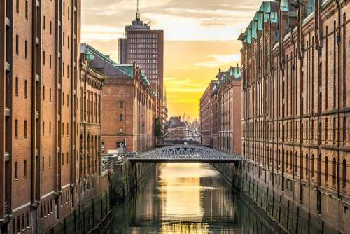 Hamburg Speicherstadt Channel Houses Germany