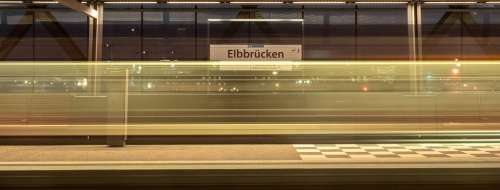 Hamburg Train Metro U4 Stop Station Rail Traffic