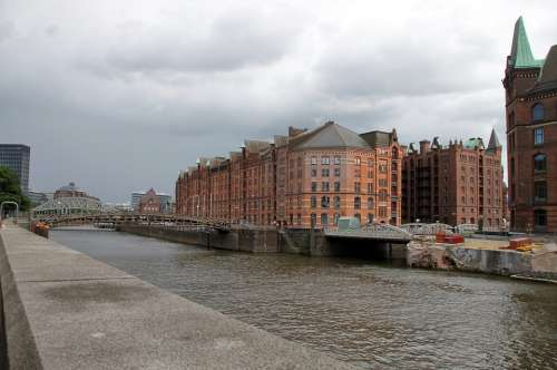 Hamburg Speicherstadt Waters Houses Hanseatic City