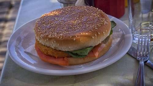 Hamburger Food Bread Breakfast Restaurant