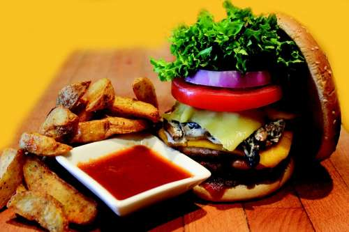 Hamburger Burger Meal Fast Meat Beef Sandwich