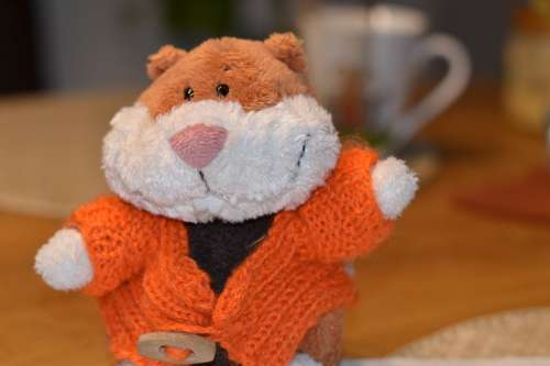 Hamster Orange Wave Teddy Bear Toys Soft Toy