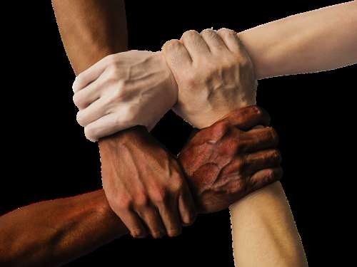 Hand United Together People Unity Team Teamwork