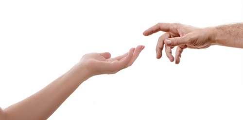 Hand Woman Female Man Touch Fingers Reach