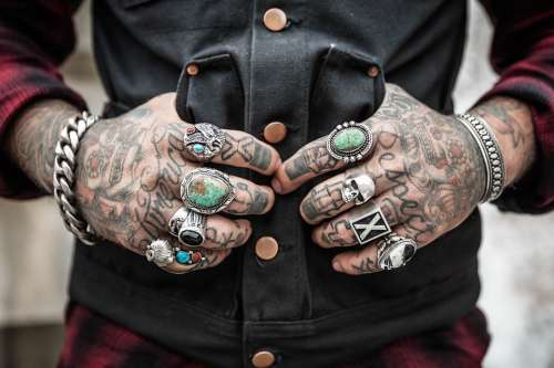 Hands Tattoos Rings Accessories Drawing Design