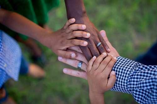 Hands Life Together Family Team Teamwork