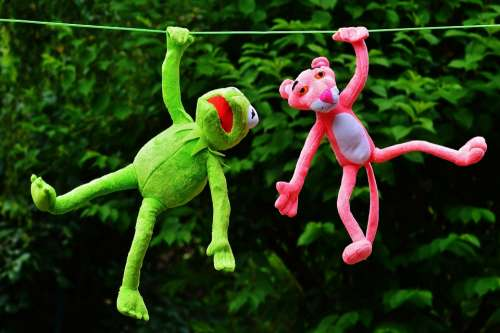 Hang Out Plush Toys Kermit The Pink Panther Toys