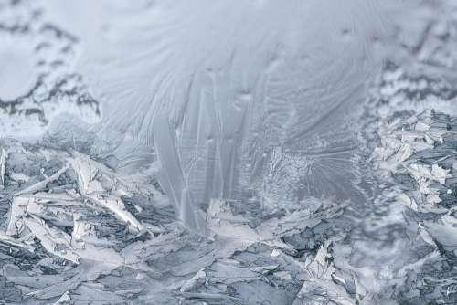 Hardest Window Ice Eiskristalle Frozen Winter