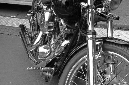 Harley Davidson Motorcycle Chrome Motor Machine