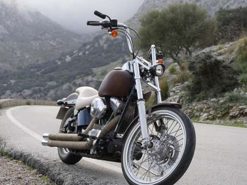 Harley Davidson Chopper Mallorca Chopper Mountains