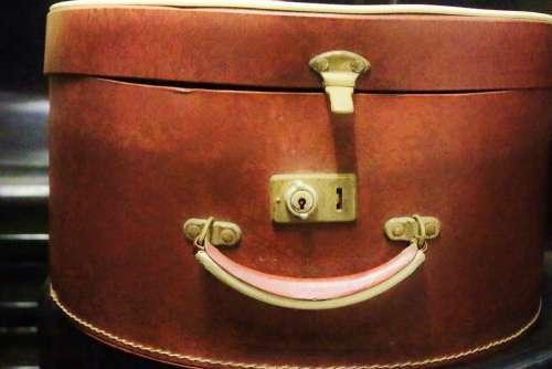 Hatbox Box Handle Luggage Castle Leather