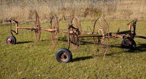 Hay Tedders Hay Grass Faceplate Agriculture