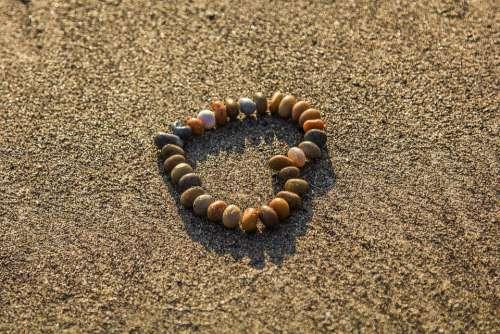 Heart Rhinestones Sand Beach