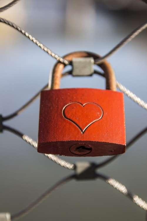 Heart Castle Love Padlock Fence Love Castle