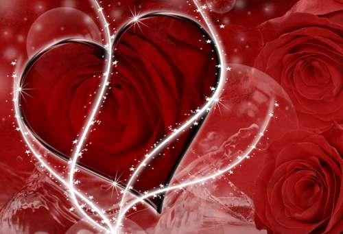 Heart Love Red Romantic Valentine Romance