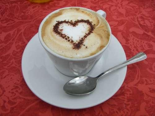 Heart Valentine Cappuccino Love Romance Symbol