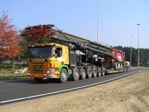 Heavy Transport Truck Scania Transport Transporter