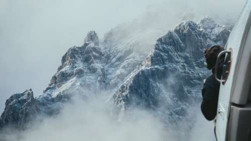 Helicopter Mountains Flight Photography View Fog