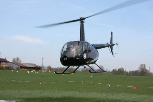 Helicopter Departure Flying Take Off Start