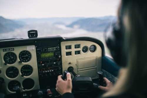 Helicopter Cockpit Pilot Dashboard Instruments