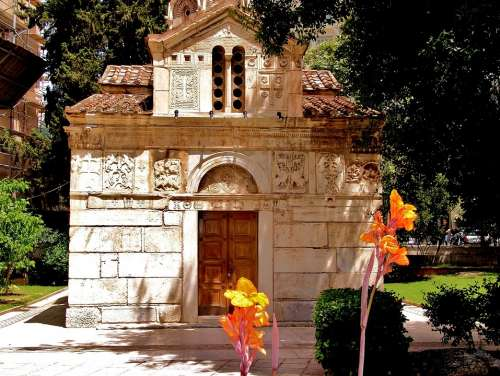 Hellas Athens Church Orthodox Building
