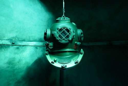 Diving Old Underwater Diving Suit Helm