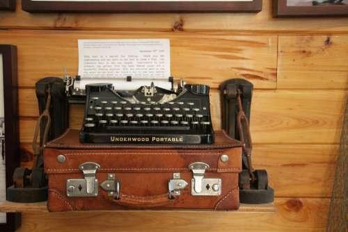 Hemingway Typewriter Historic Vintage Antique