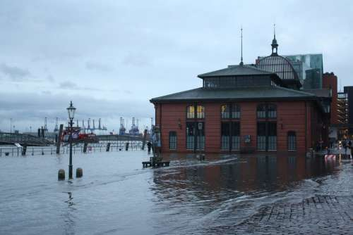 High Water Hamburg Port Motifs Harbour Cruise Hh