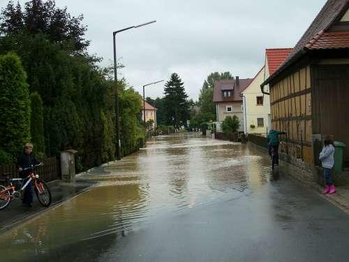 High Water Road Flooded Gosberg Flood Water