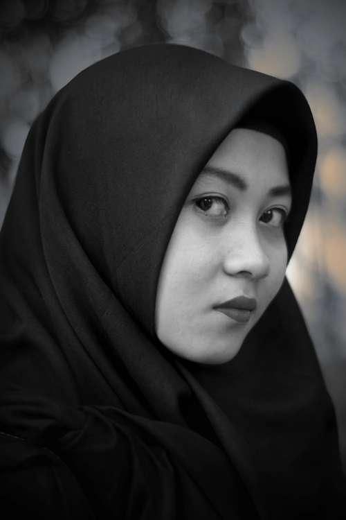 Hijab Face Women Indonesian