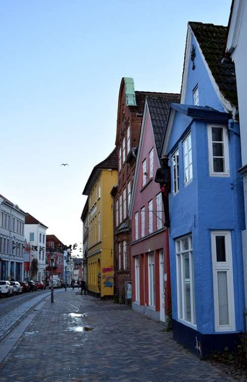 Historic Center Houses Colorful
