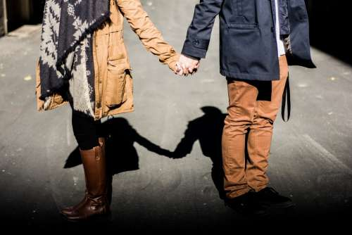 Holding Hands Couple Man Woman Love Relationship