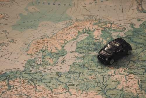 Holidays Car Travel Route Adventure Scandinavia