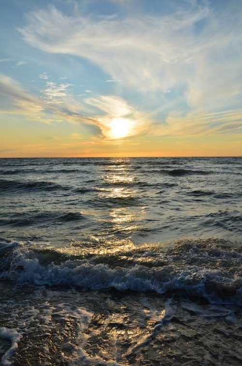Holidays The Baltic Sea Sea Beach The Coast Clouds