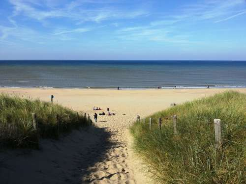 Holland Beach Coast Sky Nature Sand North Sea