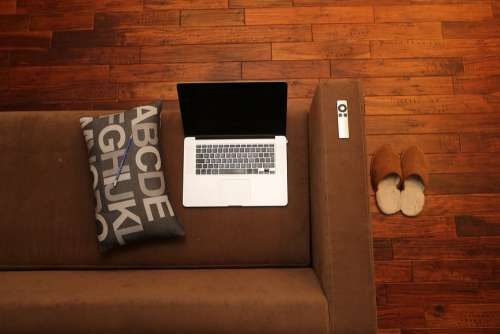 Home Office Notebook Home Couch Sofa Canapé