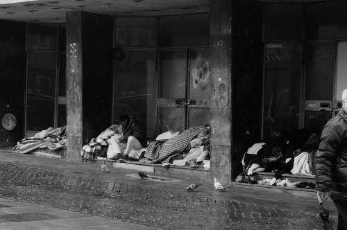 Homeless Homelessness Poverty Despair Human Sad