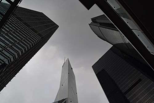 Hong Kong Skyscrapers Tall Buildings Sky