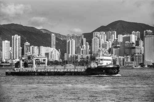 Hong Kong Victoria Harbour Ship