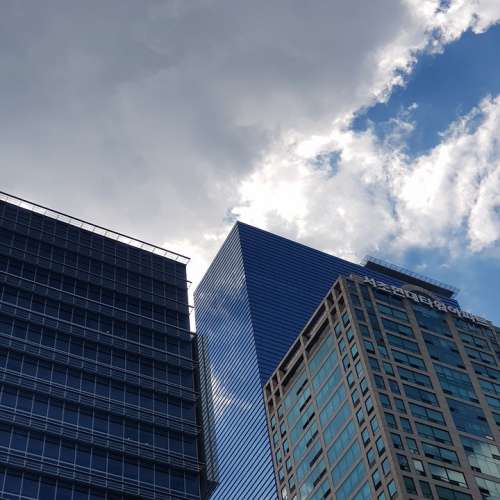 Hongkong Sky City Scraper Sky View