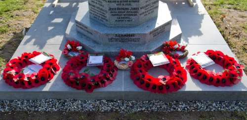 Honouring The Fallen War Memorial Poppy Wreaths